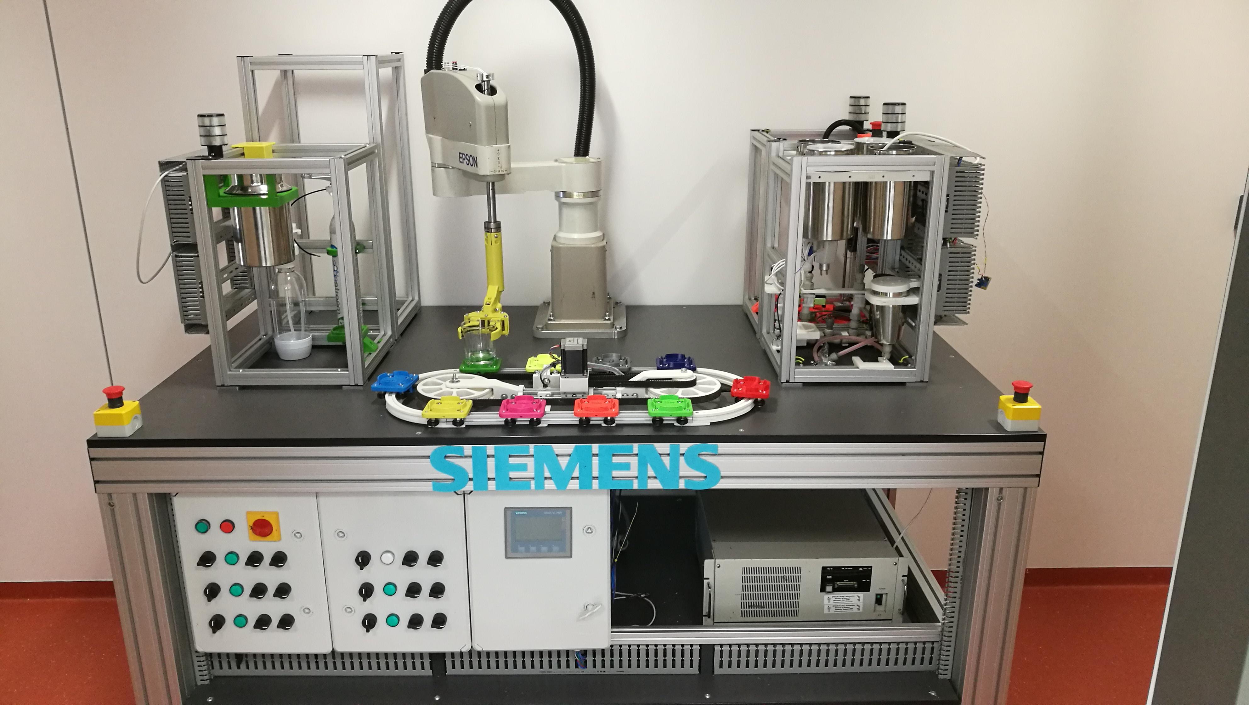 Skupina průmyslové automatizace - Testbed pro výuku průmyslové automatizace