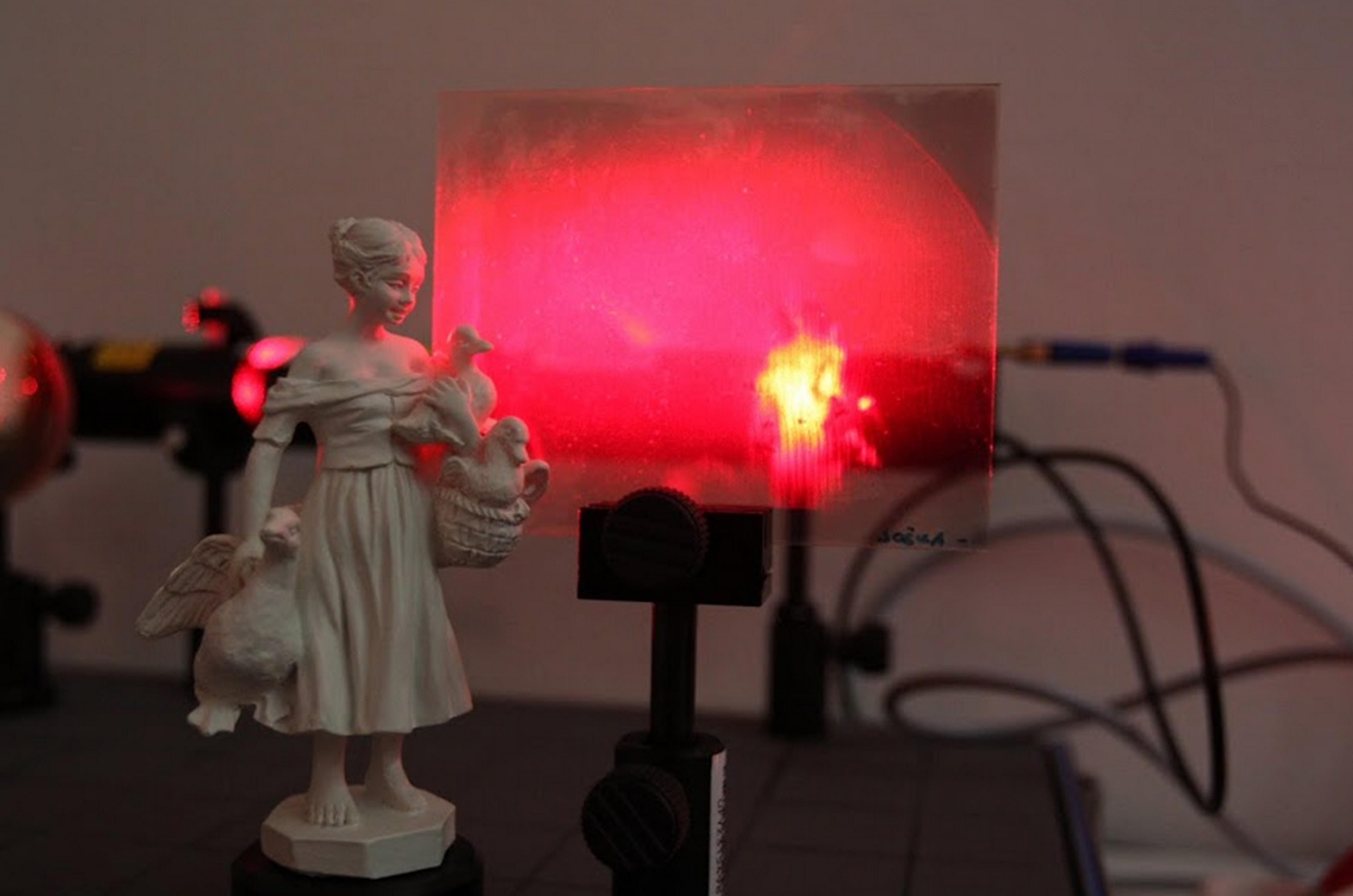 Laboratoř nanometrologie - Záznam a rekonstrukce hologramu