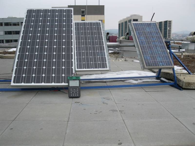 Fotovoltaické články a moduly - Reálné měření charakteristik fotovoltaického panelu