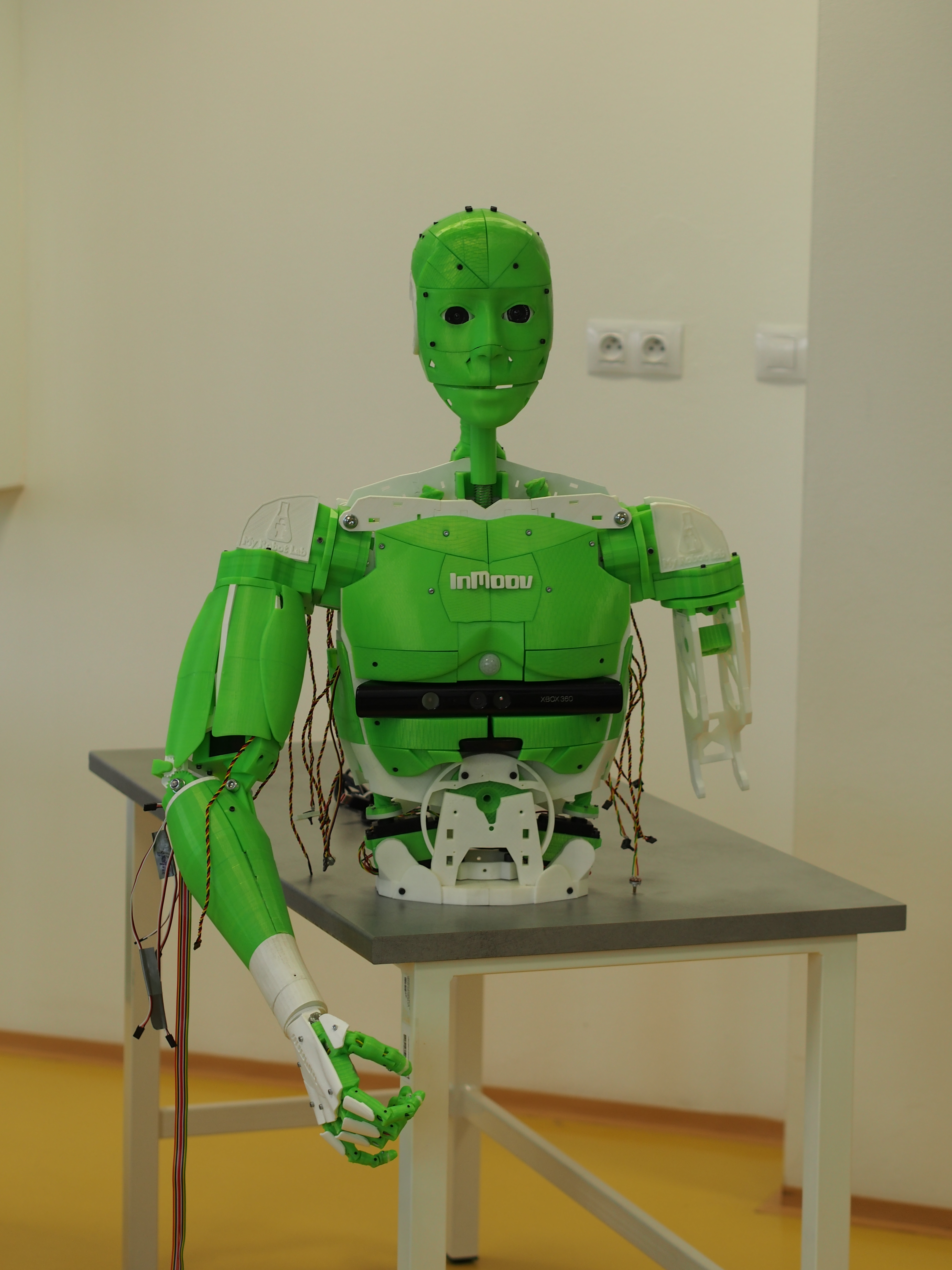 Simulace a 3D modelování - Animatronický robot vyrobený metodou 3D tisku